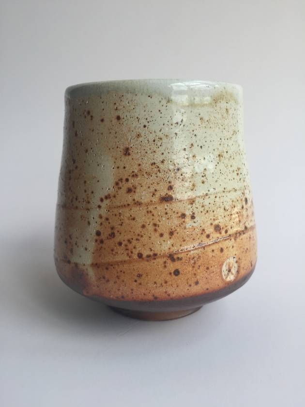 Wood Fired Stoneware:  Speckled Tumbler 2