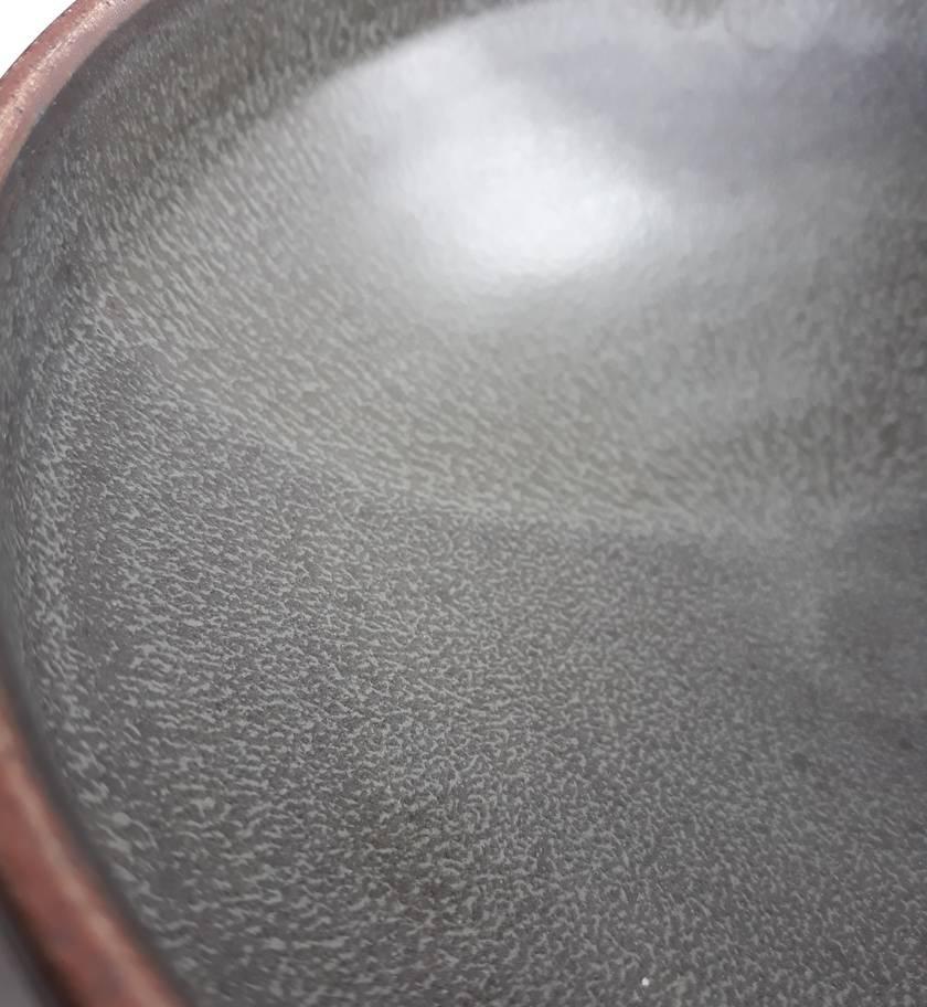 "Rustic ""Black Salt"" Bowl - Shallow"
