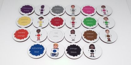 Tamariki (children) and colours memory game