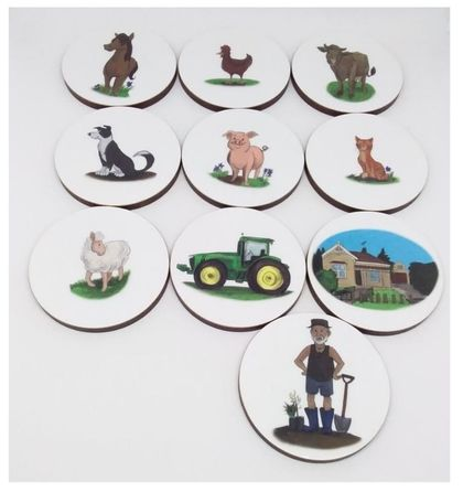 'Down on the farm' story starter set