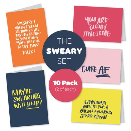 Sweary Greeting Cards
