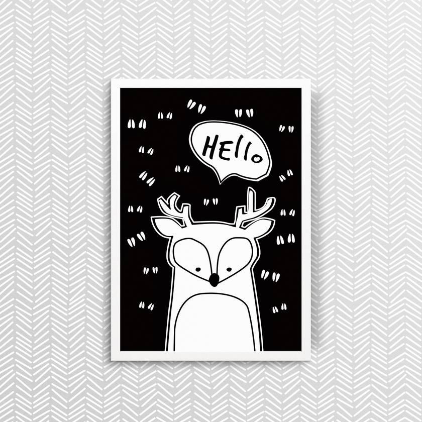 Hello Deer - Print