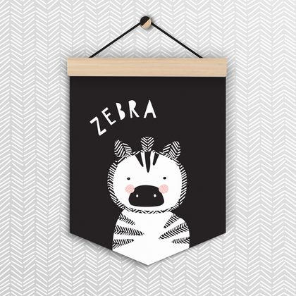 Zebra - Wall Flag