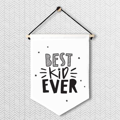 Best Kid Ever - Large Wall Flag