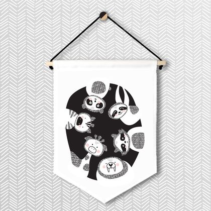Animal Friends - Large Wall Flag