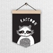 Raccoon - Wall Flag