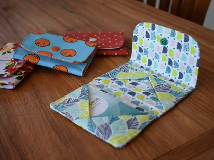 Cotton crossover card holder / wallet. Various patterns