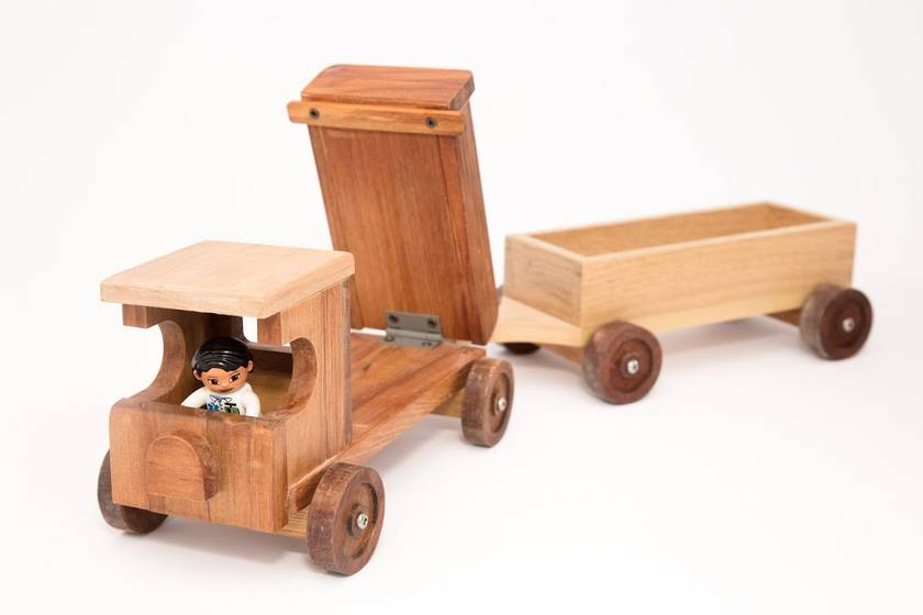 Recycled Rimu tip truck
