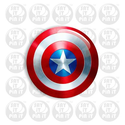 Captain America Shield Badge 50mm. Great for a themed Party
