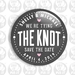 """Save The Date Fridge Magnet - We're Tying The Knot on Chalkboard Effect 50mm/2"""""""