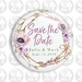 """Save The Date Fridge Magnet - Pink Poppy & Twigs 50mm/2"""""""