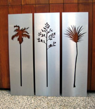 natives stainless steel wall art felt. Black Bedroom Furniture Sets. Home Design Ideas