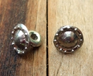 Medieval-style pewter buttons - bossed-edge design, set of six