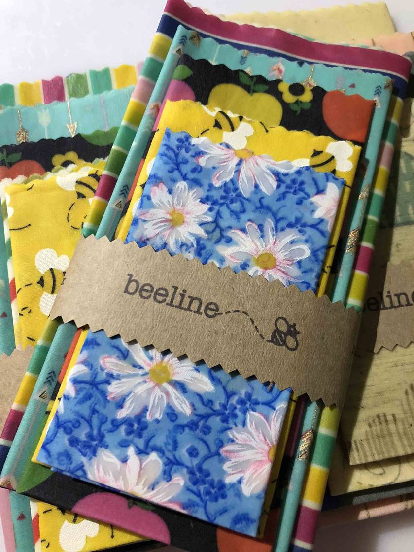 Beeline beeswax food wraps - bright colours