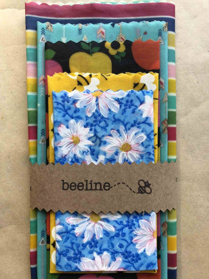 Beeline beeswax food wraps - bright colours
