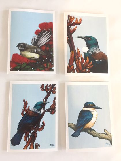 Native Birds 8 pce Greeting Card Set by Shane Prouting