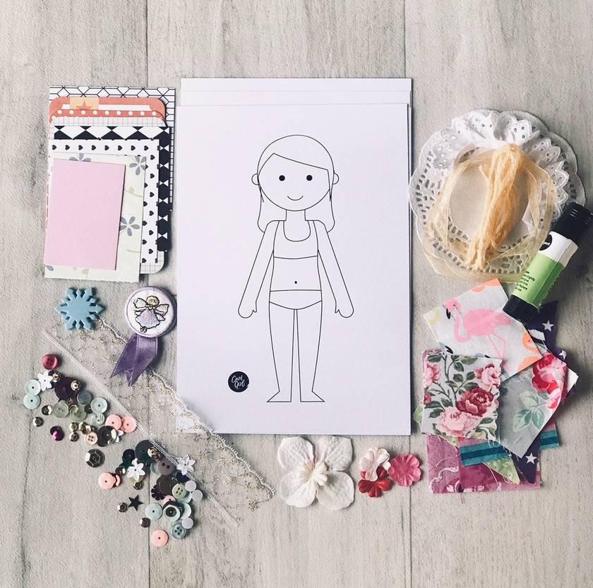 Paper Doll Kit - Girl