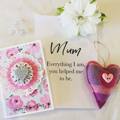 Mothers Day Card & Blanket Heart