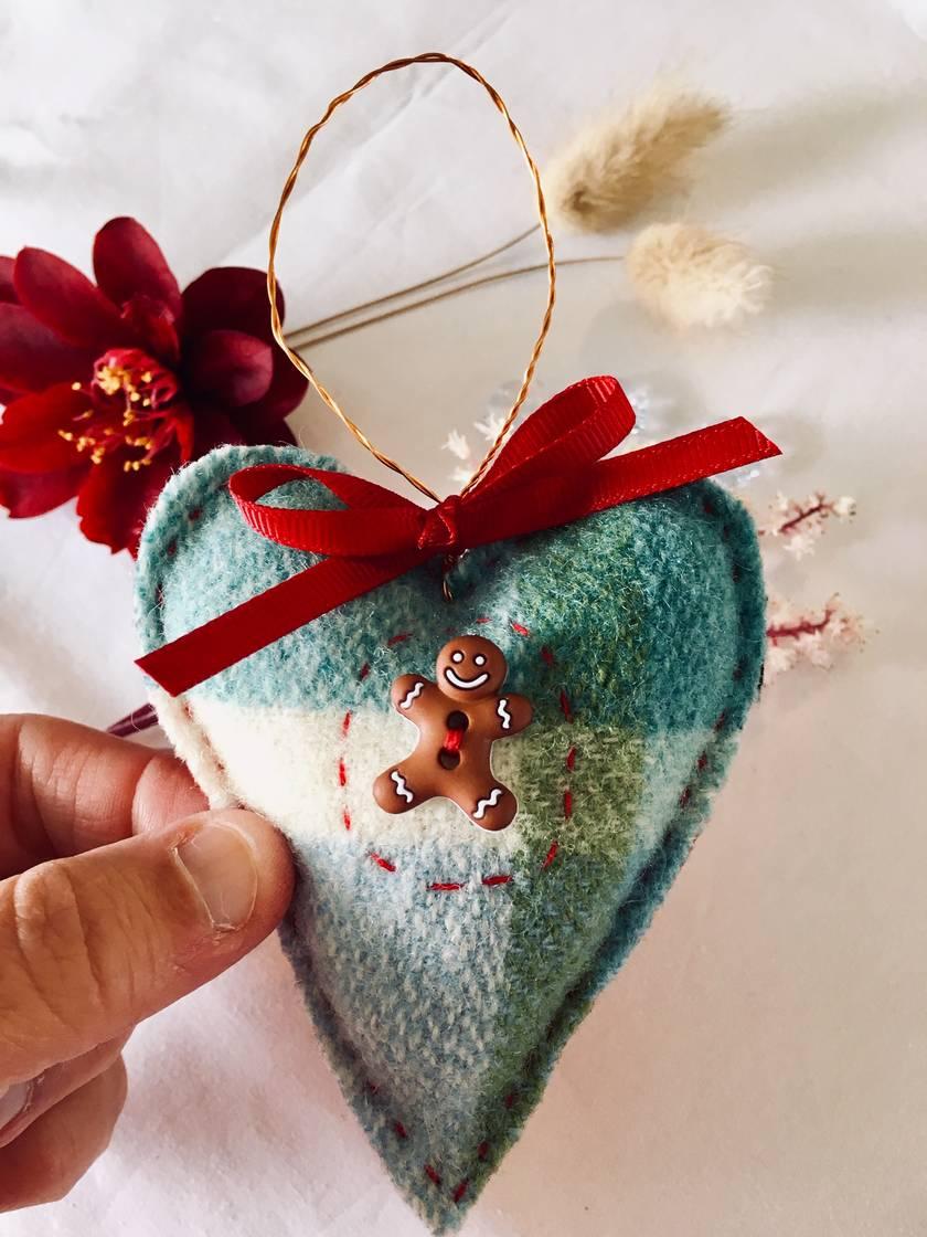 Gingerbread Man Blanket Heart