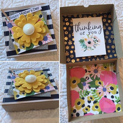 Mother's Day Gift Card Box - Yellow Flower