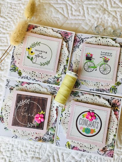 Beautiful Notecard Packs - 4 cards (floral)