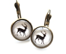 White Deer Earrings