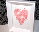 Original Heart Drawing - framed