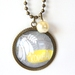 Kiwiana Yellow and Grey Pendant Necklace