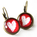 'Love Christchurch' Short Red Earrings