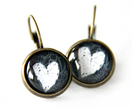 'Love Christchurch' Short Black Earrings