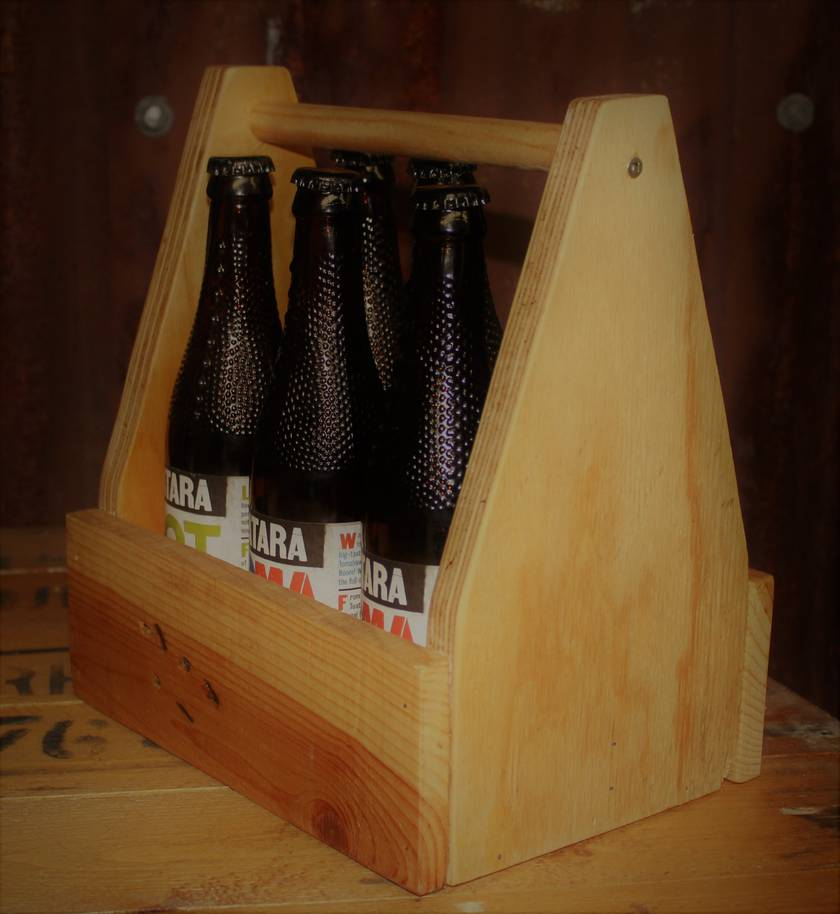 Craft/Beer holder - Recycled Wood