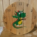 Children's Recycled Wooden Clock - Baby Dino