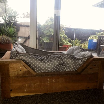 Recycled Wood Dog Bed