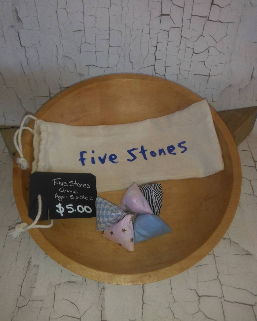 Five Stones Game Handmade