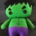 Palm sized Hulk Felt toy