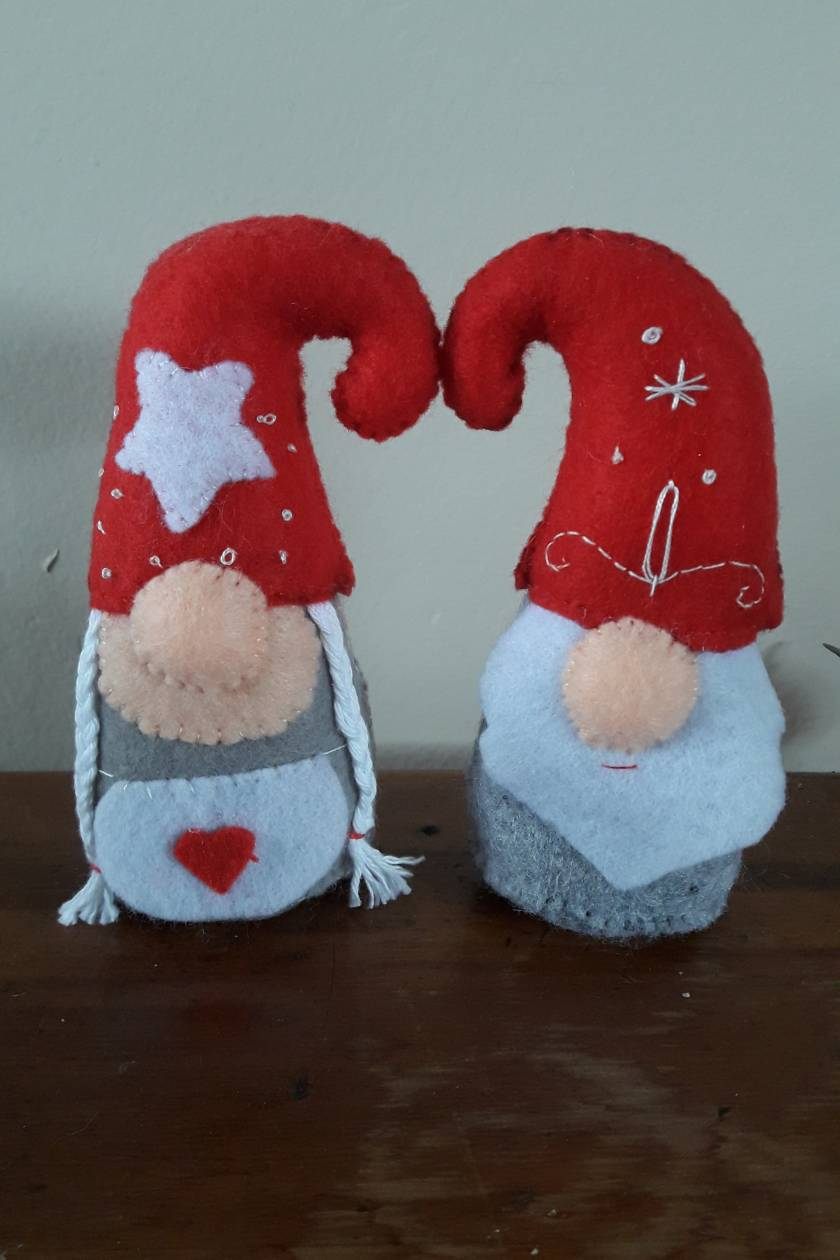 Mr and Mrs Claus Gnome Felt
