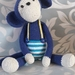 Monkey called Blue Crochet Toy