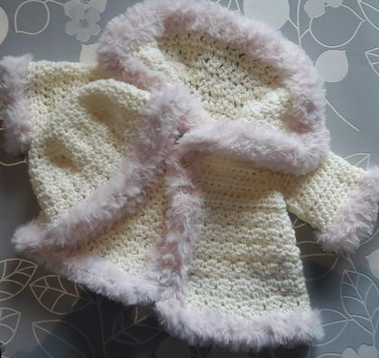 Girls Crochet Jacket & Hat