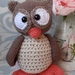Owl crochet softie