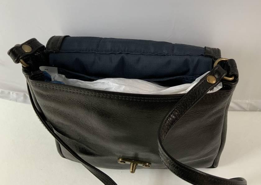 J2 Black Genuine Leather shoulder bag