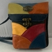 Pouch 3 O multi coloured Genuine Leather