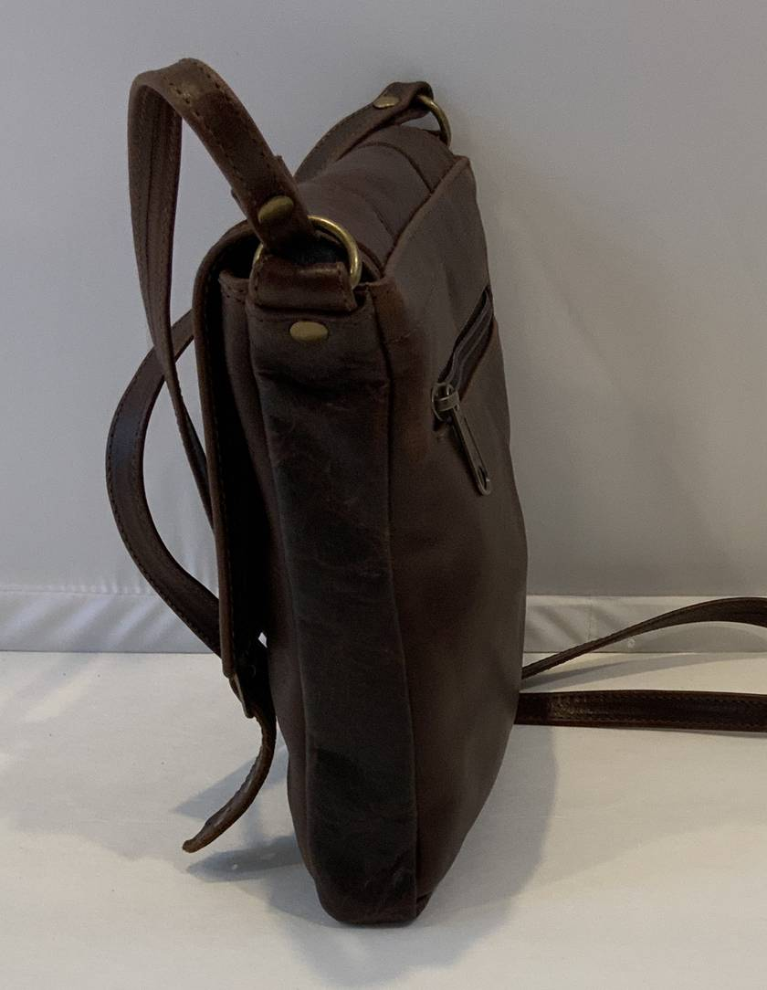 J2  Brown Genuine Leather Shoulder Bag