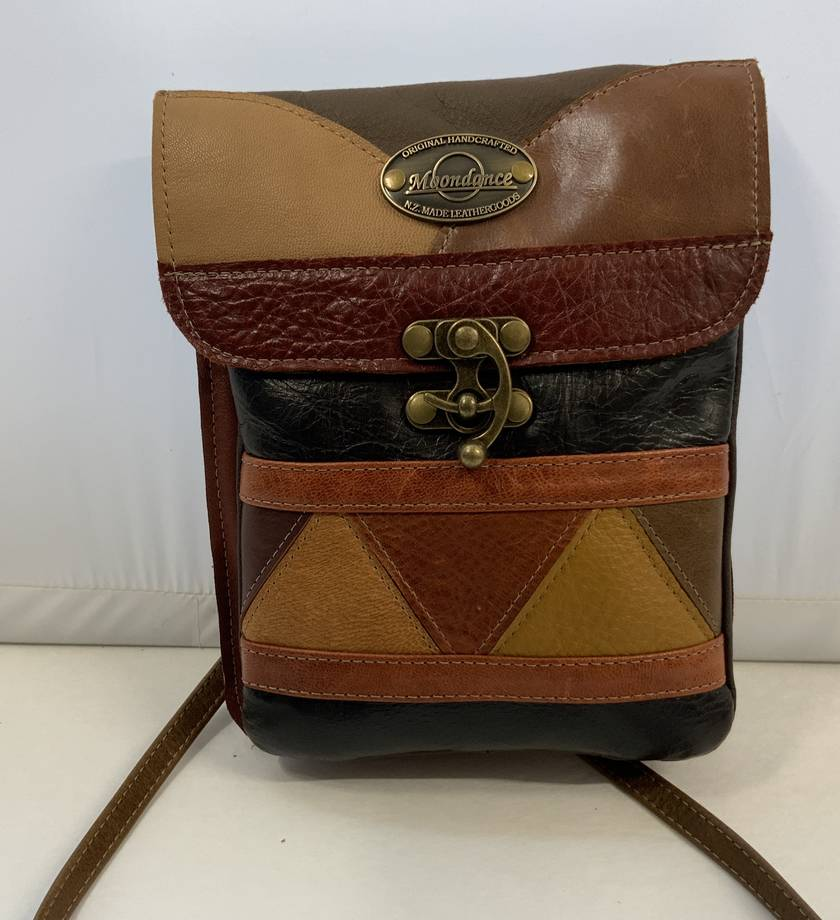 Pouch 3T  Multi coloured Leather Bag