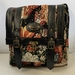 AJ5F Upholstery Fabric and Black Leather bag