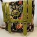 AJ5F Upholstery Fabric and Green Leather Bag