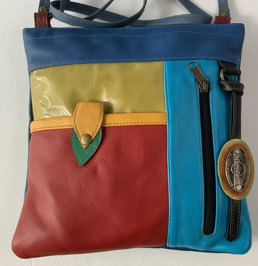 New Market 3 Bright Multi Coloured Leather Bag