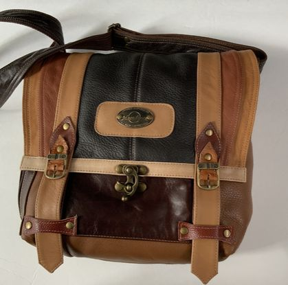 Brendon Multi Coloured Browns Large Shoulder Bag