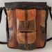 M1 Multi Coloured Large Leather Shoulder Bag