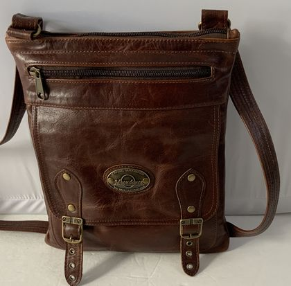 J4 Brown Leather Shoulder Bag