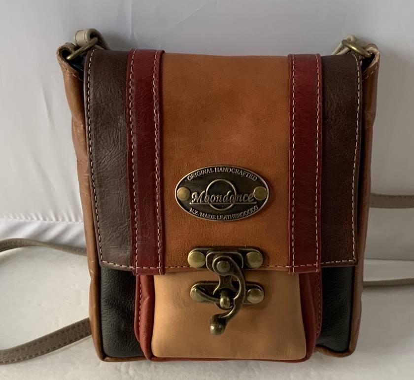 AJ13 Multi Coloured Leather Shoulder Bag